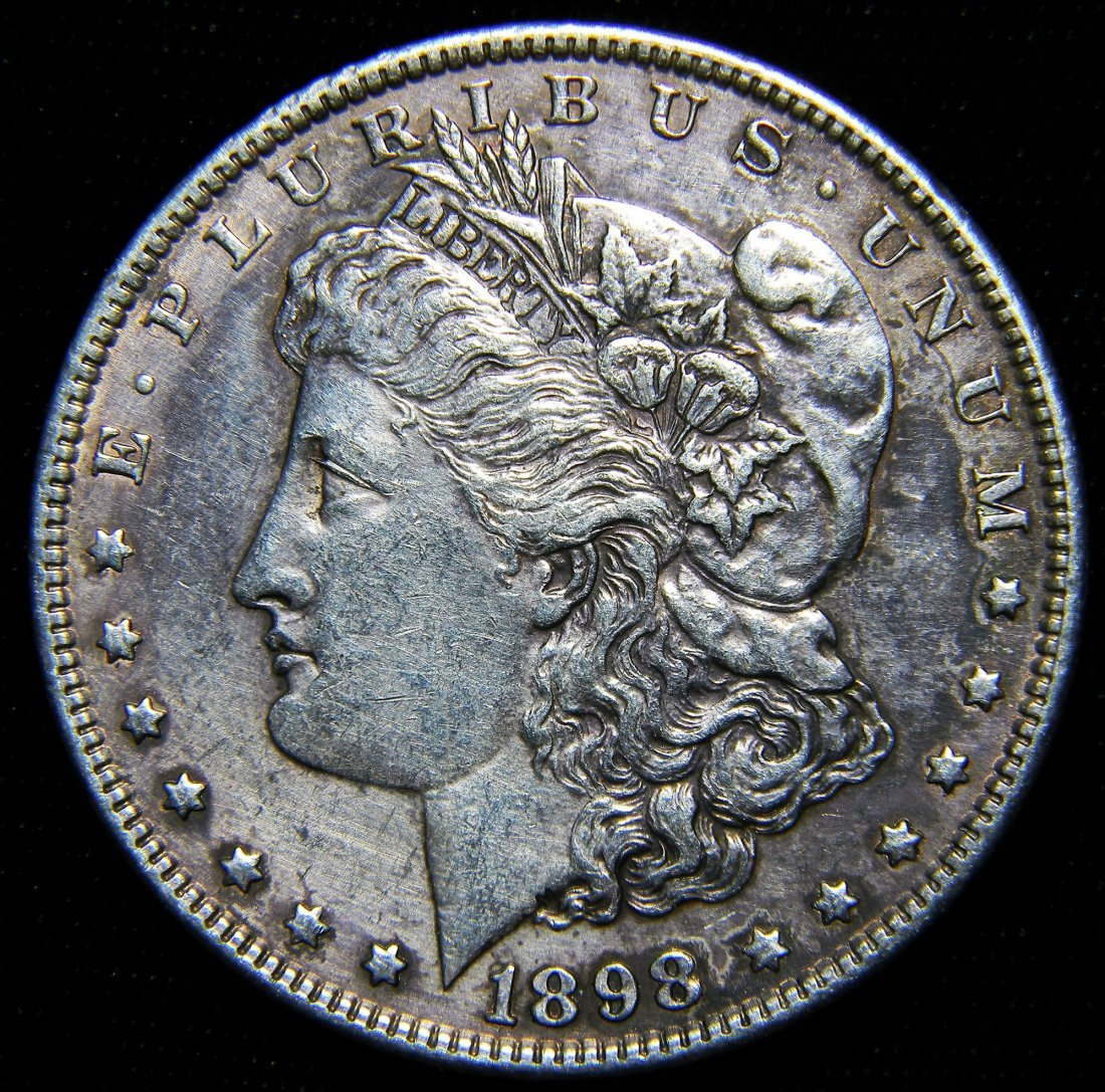 1898 Morgan Silver Dollar, Very Fine Details