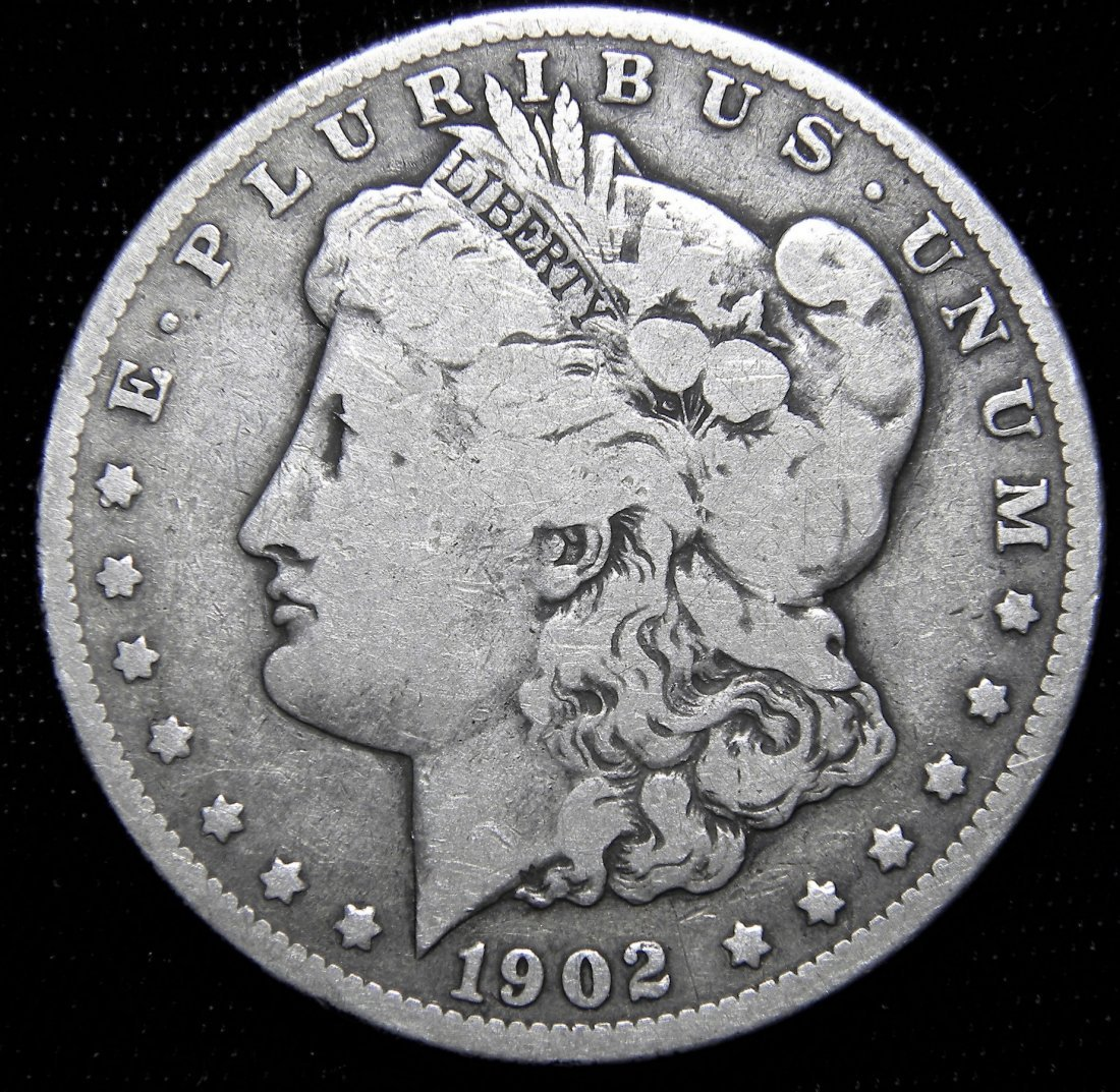 1902-O Morgan Silver Dollar, Good Details