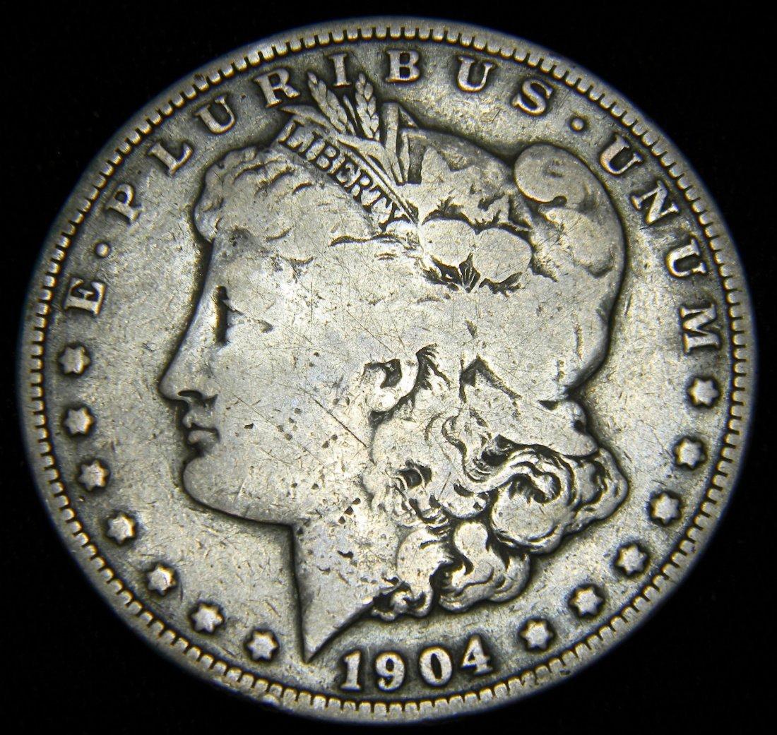 1904-O Morgan Silver Dollar, Very Good Details