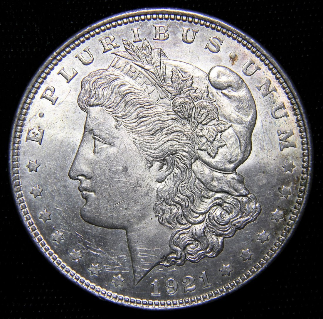 1921 Morgan Silver Dollar, Brilliant Uncirculated