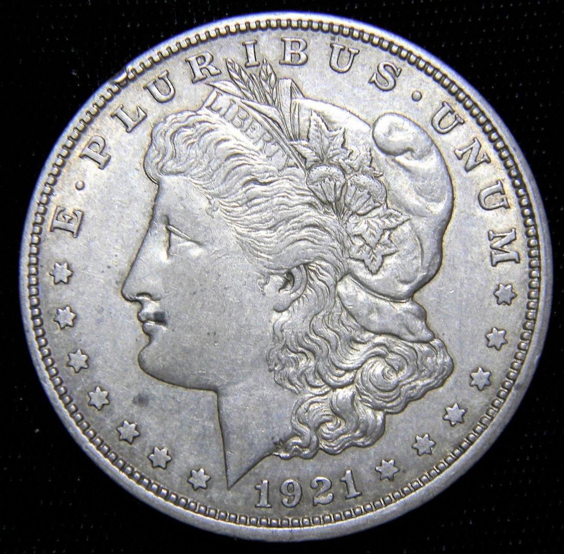 1921-D Morgan Silver Dollar, Very Fine Details