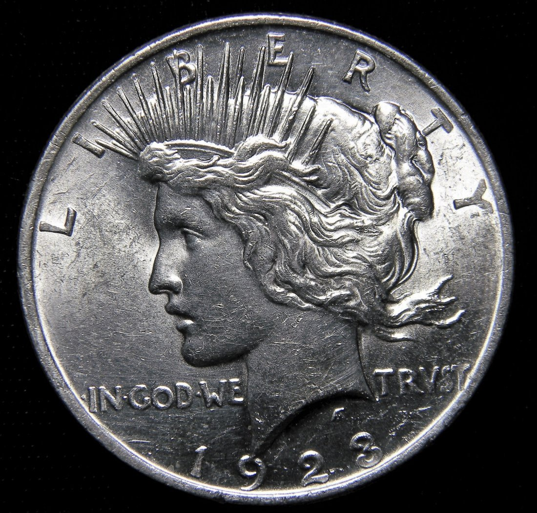 1923 Peace Silver Dollar, About Uncirculated Details