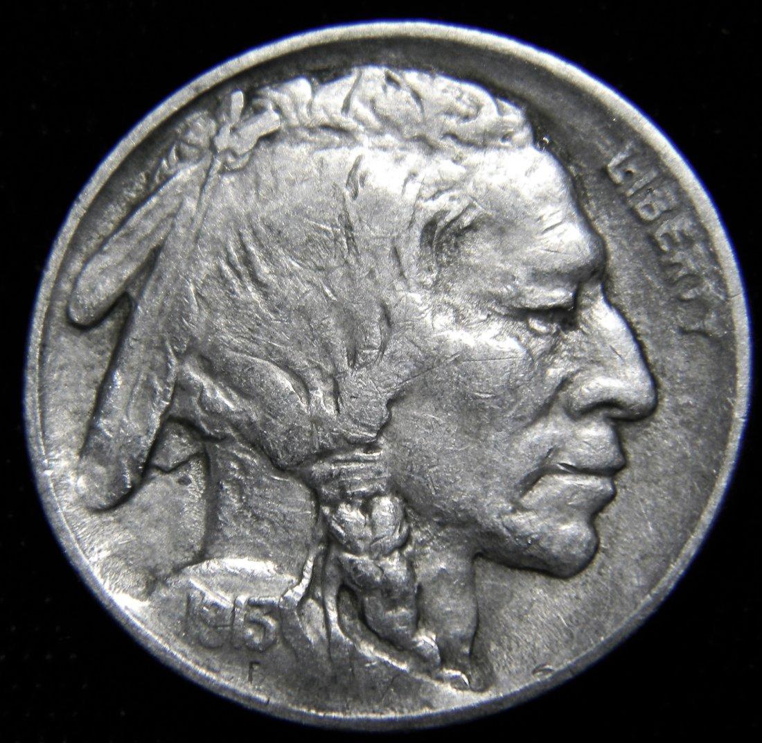 1913 Type 2 Indian Head (Buffalo) Nickel, Very Fine