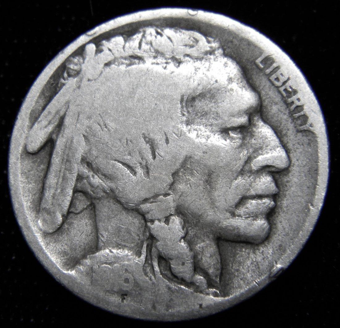 1916-S Indian Head (Buffalo) Nickel, Good Details