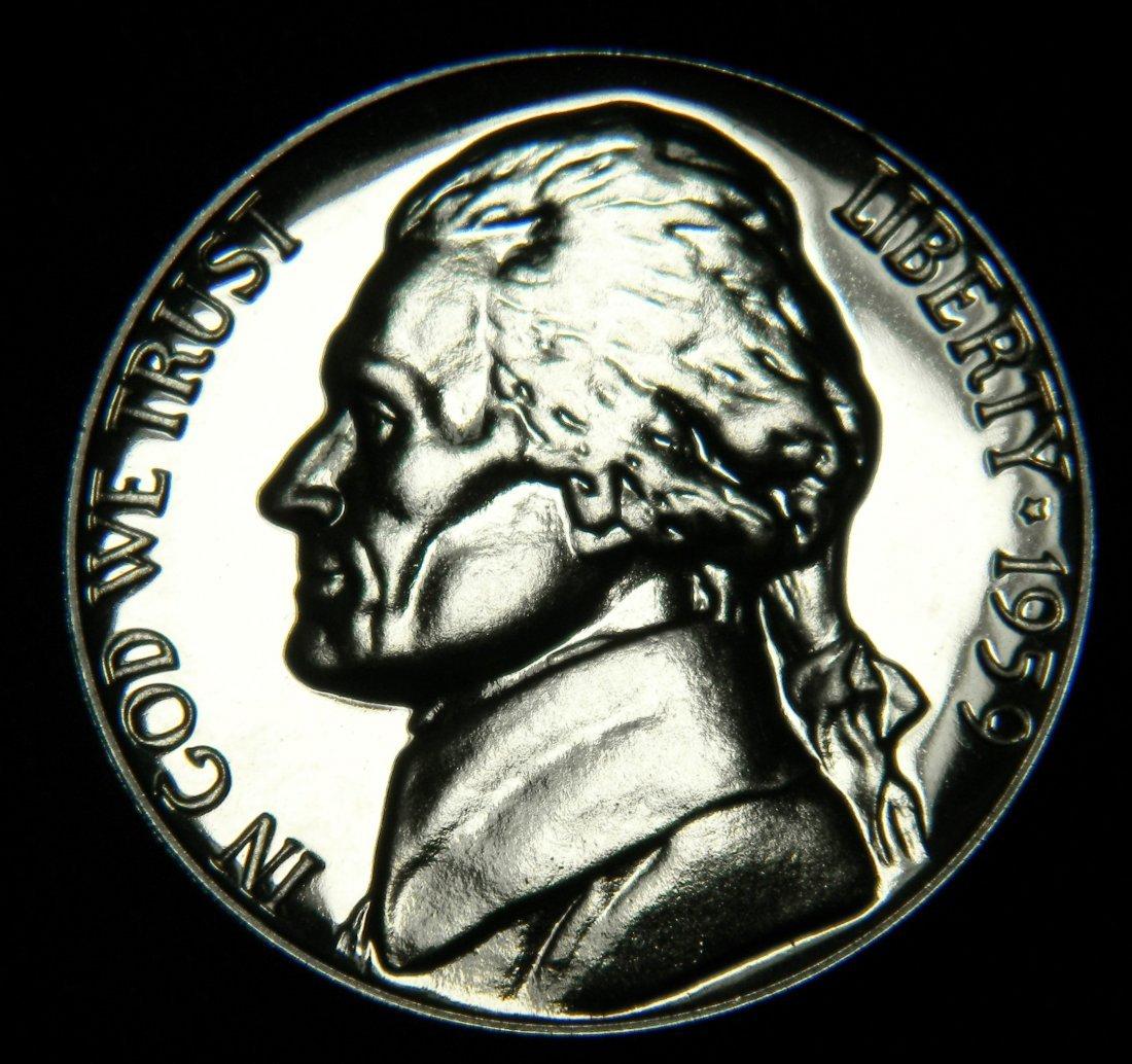 1959 Proof Jefferson Nickel. Deep Cameo
