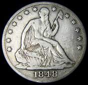 1848-O Seated Liberty Half Dollar,  Fine Details