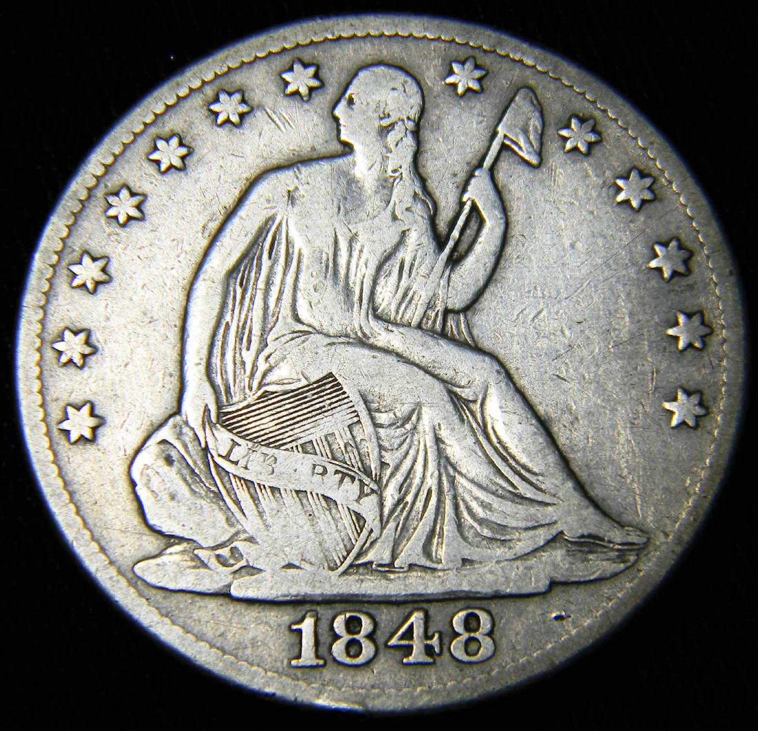 1848-O Seated Liberty Half Dollar,  Fine Details