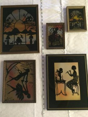 Diefenbach Silhouettes - lot of 5