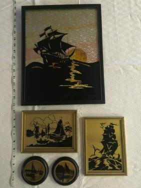 Lot of 5 Silhouettes