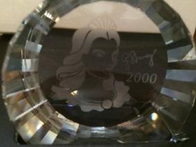 Swarovski Crystal Scs Columbine 2000 Paperweight 60 Mm