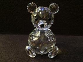 Swarovski Crystal Teddy Bear Authentic Swan Logo & Name