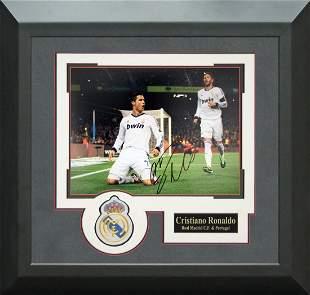 Cristiano Ronaldo Signed Real Madrid Framed Photo