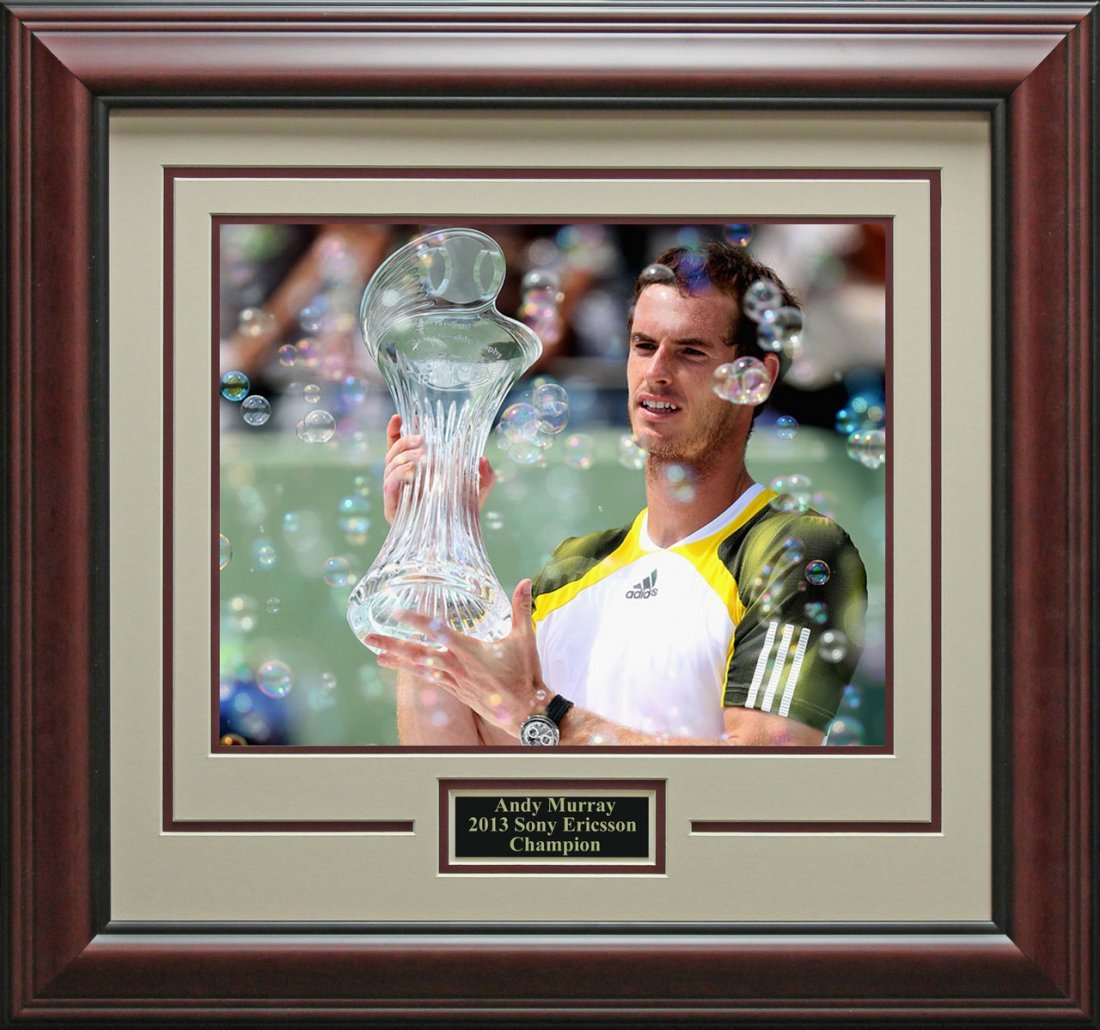 Andy Murray Wins Sony Ericsson Champion Photo Framed