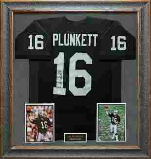 Jim Plunkett Signed Jersey Framed