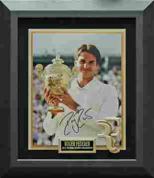 Roger Federer 2012 Wimbledon Champion Signed Photo