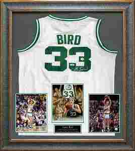 Larry Bird Signed Boston Celtics Jersey
