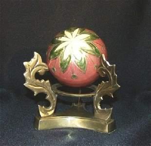 Decorative Sphere & Brass Stand
