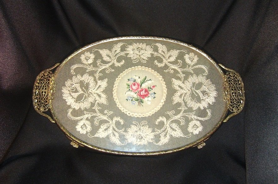 Vintage Gold Plated Tray