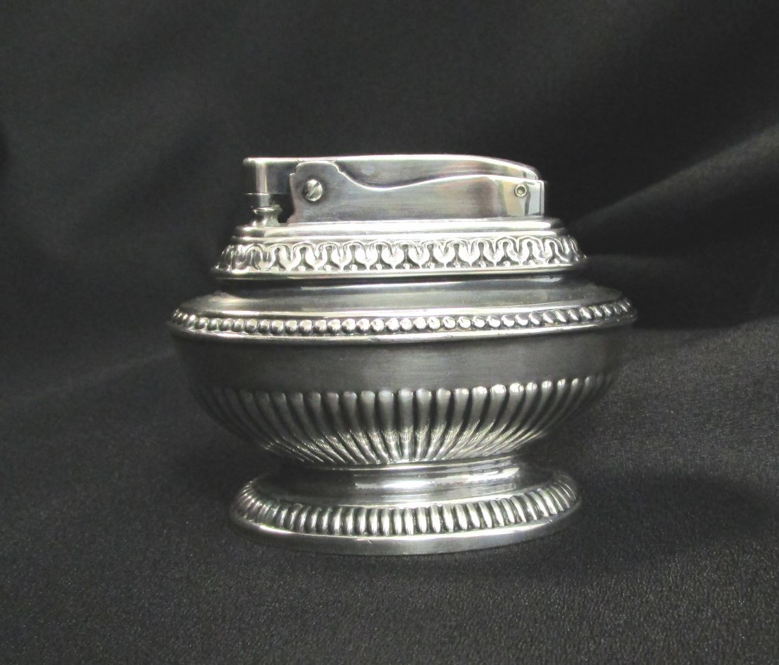Ronson Queen Anne Silver Plated Wick Lighter