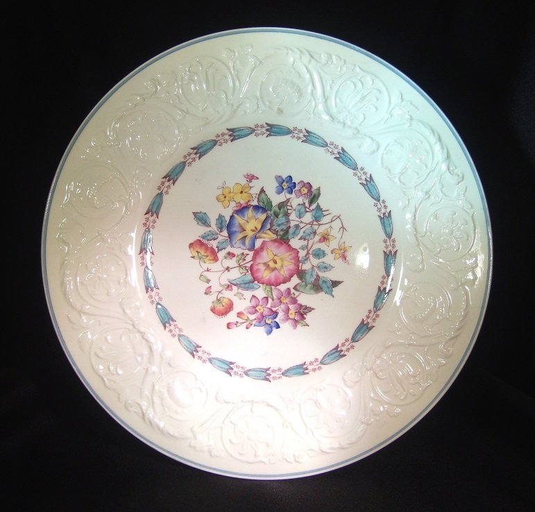 3 Wedgewood Patrician Morning Glory Plates