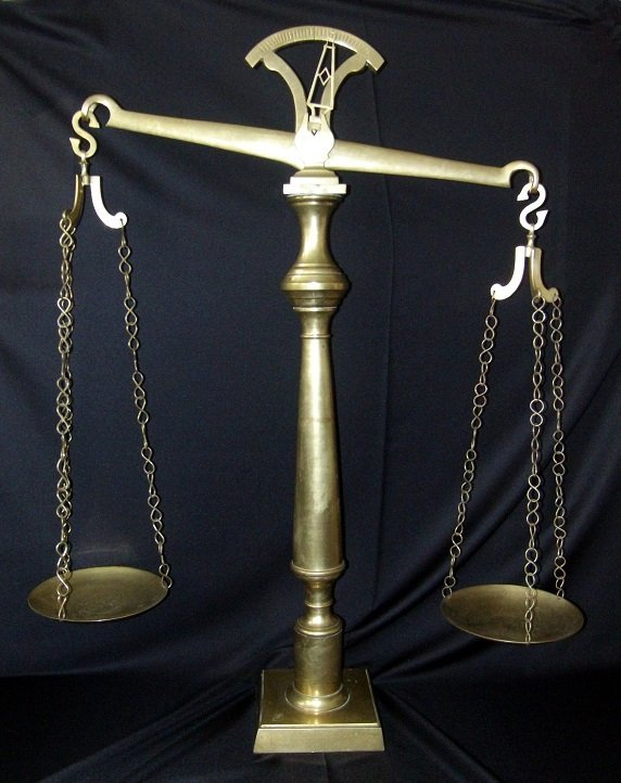 Huge Brass Scale