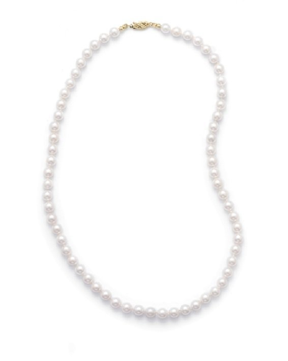 "18"" 6-6.5mm Grade AAA Cultured Akoya Pearl Necklace"