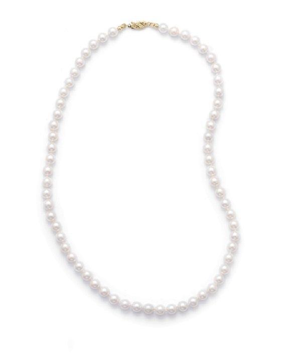 "18"" 6-6.5mm Grade AAA Cultured Akoya Pearl Necklace"
