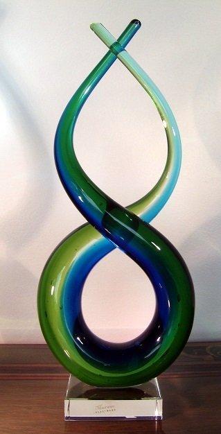Murano Style Multicolored Art Glass Sculpture