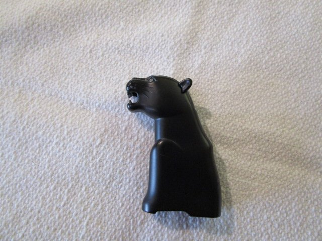 Black Jaguar Lighter w/Stone Eyes