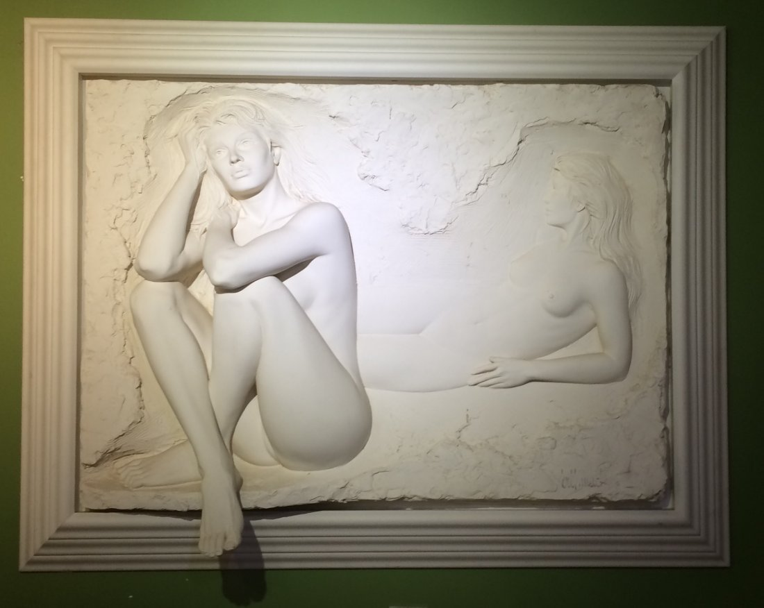 Signed Bonded Sand Sculpture by Bill Mack