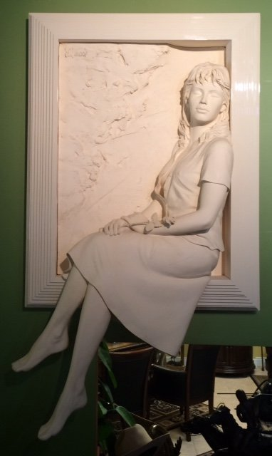 """Signed Bonded Sand Sculpture by Bill Mack """"Memories"""""""