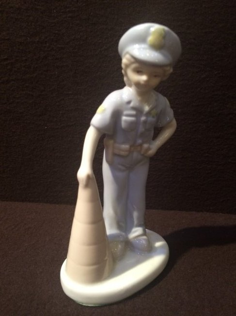 Porcelain Police Crossing Guard