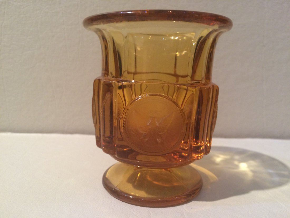 Amber Coin Glass Goblet