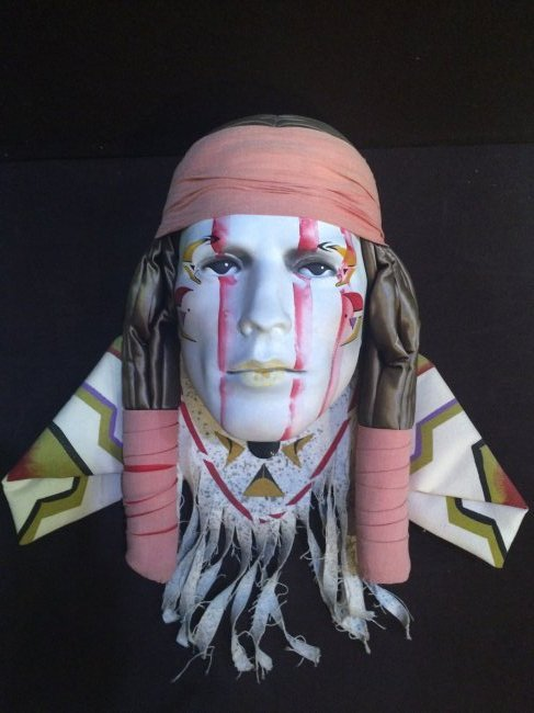 Dyan Nelson Ceramic Native American Handpainted Mask