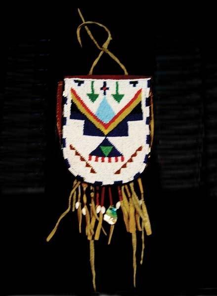 11: Nez Perce Beaded Belt Pouch