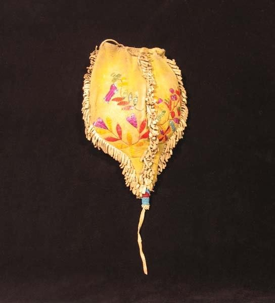 13: Santee Sioux Woman's Quilled Pipebag