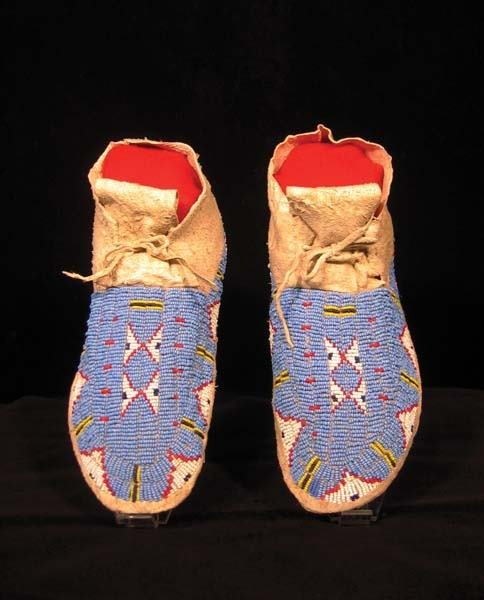 15: 1930's Sioux Beaded Moccasins