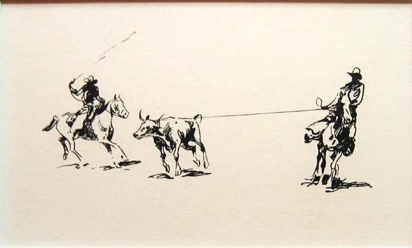 """18: Edward Borein (1813-1945) """"The Ropers"""""""