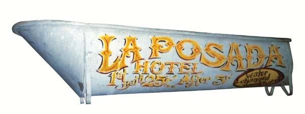 323: Early Cowboy Vintage Tin Bathtub