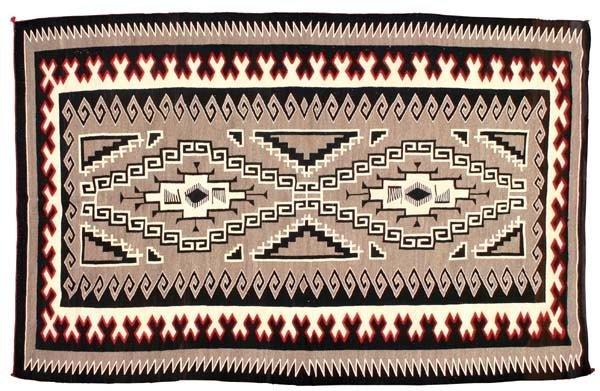 319: 1940's Large Navajo Carpet