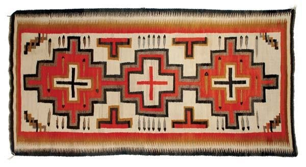 "320: Navajo Regional  Rug, 89"" x 48"