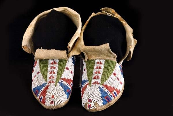 315: Pair of Sioux Moccasins
