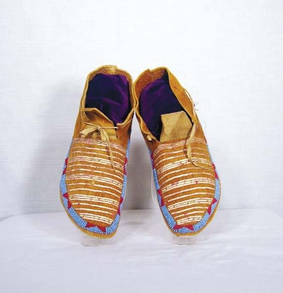 306: 1880s Sioux Quilled Moccasins