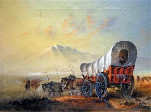 J. A. Kirkpatrick 20 x 28 Oil Painting