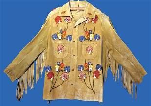 Crow Beaded Buckskin Jacket