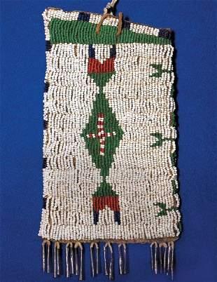 Sioux 19th Century Fully Beaded Bag