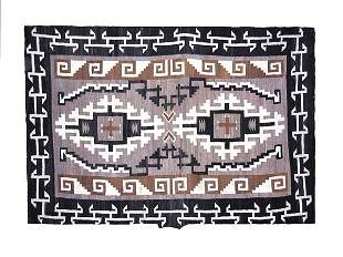 Two Grey Hills area Navajo Rug