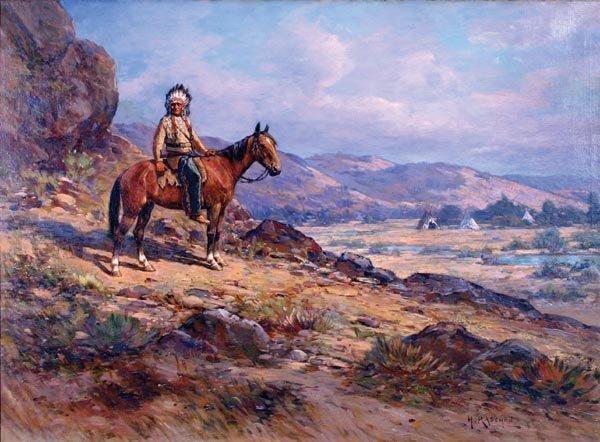 111: Henry Raschen 30 x 40 Oil on Canvas