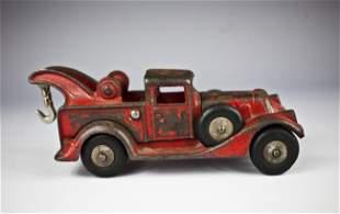 930's Hubley Cast Iron Wrecker, read , original