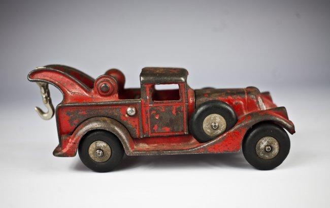 1930's Hubley Cast Iron Wrecker, read , original